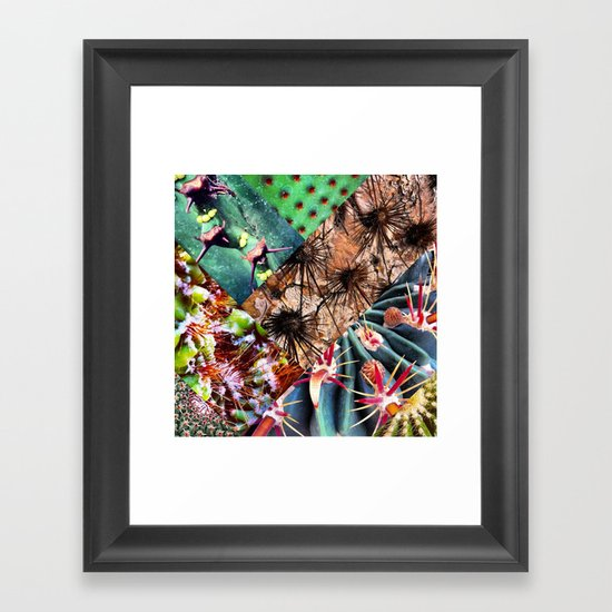 Cactus Collage Framed Art Print