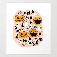 Halloween Creatures 2 Art Print