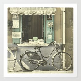 Burano Bicycle Art Print
