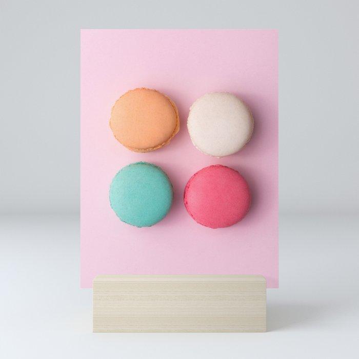 Pink Macaroons Mini Art Print