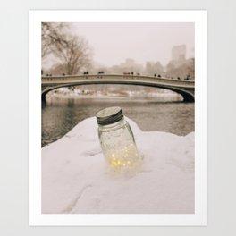 Central Park Winter 1 Art Print
