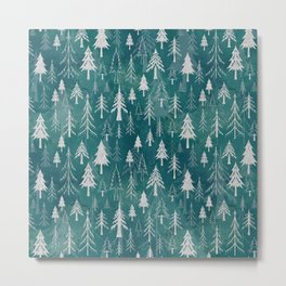Christmas tree mix in arctic blues Metal Print