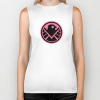 agents of shield Biker Tanks featuring Pink SHIELD by Arne AKA Ratscape