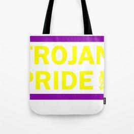 Trojan Pride - Purple & Yellow Tote Bag