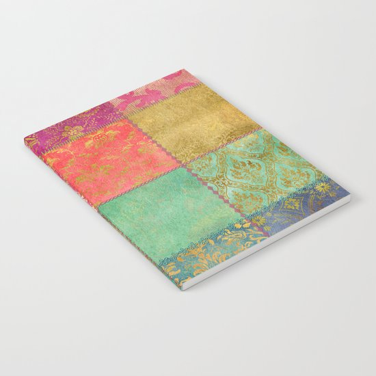 Royal Patchwork Notebook