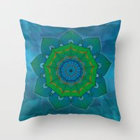 lotus Throw Pillows featuring Lotus by Angelo Cerantola