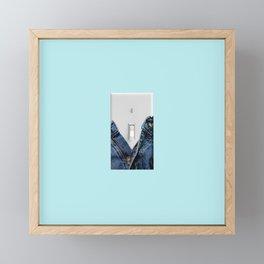 turn me on Framed Mini Art Print