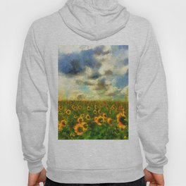 Classical style sunflowers Hoody