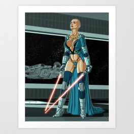 Star Wars: Double Red Art Print