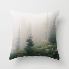Mt Hood National Forest Throw Pillow