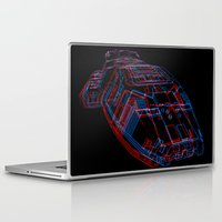 battlestar galactica Laptop & iPad Skins featuring Classic Galactica 3D by Billy Allison