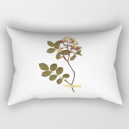 Vintage wild rose and washi tape Rectangular Pillow