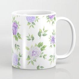 Hand painted lavender violet green watercolor floral Coffee Mug