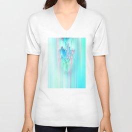 Rainbow Cascade Glitch Unisex V-Neck