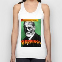 freud Tank Tops featuring Zombie Freud by Ms Moirai