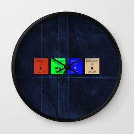The Elements of Color Wall Clock