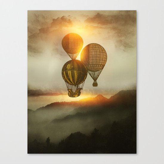 A Trip down the Sunset Canvas Print