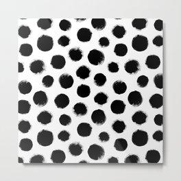 monochrome polka dots Metal Print