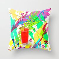 cocktail Throw Pillows featuring Cocktail by LoRo  Art & Pictures