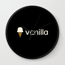 Ice Cream Flavors: Vanilla Wall Clock