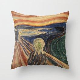 The Scream, Edvard Munch, classic painting Throw Pillow