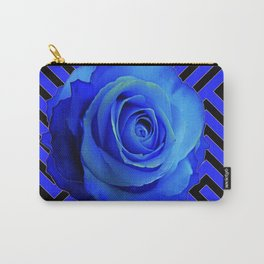 CONTEMPORARY BLUE ROSE  PATTERN ART GARDEN Carry-All Pouch