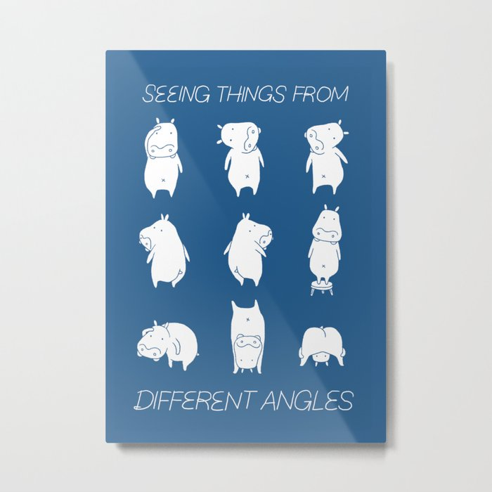 Seeing things from different angles Metal Print