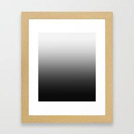 White to Black Horizontal Linear Gradient Framed Art Print