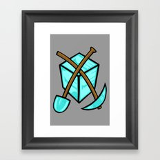 It's All About The Diamonds Framed Art Print