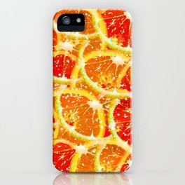 Snow citrus iPhone Case