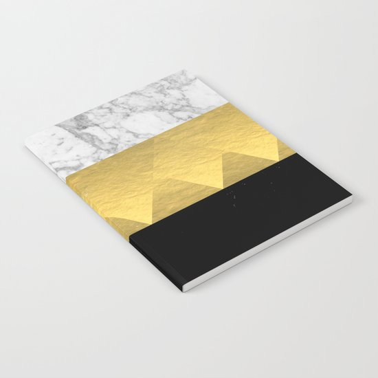 Stacked - gold foil black and marble cell phone case golden urban minimal retro modern city hipster  Notebook