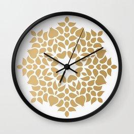 Abstract Background kaleidoscope golden effect Wall Clock