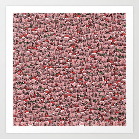 Christmas pigs by dima_v