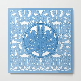 Blue anemone Metal Print