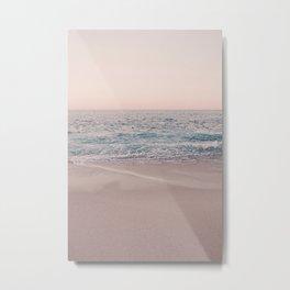 ROSEGOLD BEACH Metal Print