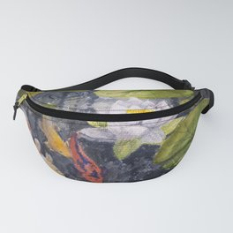 Koi Fishes and Water Lily in Lake Fanny Pack