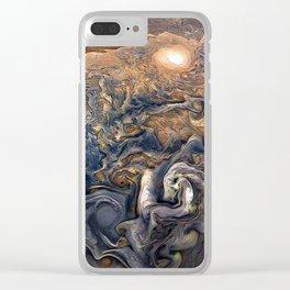 Jupiter's Clouds Clear iPhone Case