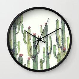 Cactus field Wall Clock