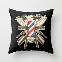 Barber Accessories | Beard Hairdresser Throw Pillow