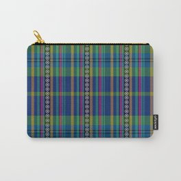 emerald and navy dobbie plaid Carry-All Pouch