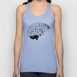 Braaains (black on grey) Unisex Tank Top