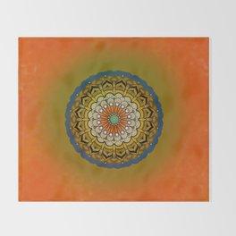 Round Colorful Design Throw Blanket