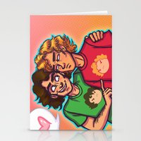grantaire Stationery Cards featuring Cheer Up, Grump by juanjoltaire