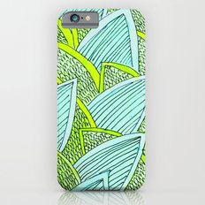 Sea of Leaves - Blue and Green Leaf pattern iPhone 6s Slim Case