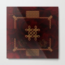 Celtic knote, vintage design Metal Print