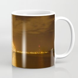 Glowing Bridge Over the Waterway Coffee Mug