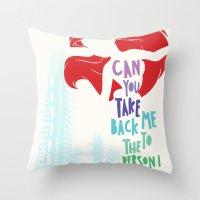 ariel Throw Pillows featuring ariel by Sara Eshak