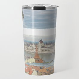 Fisherman's Bastion Budapest Hungary view Travel Mug
