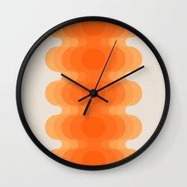 Echoes - Creamsicle Wall Clock