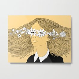 Flowers in My Eyes (Life in a Glimpse) Metal Print